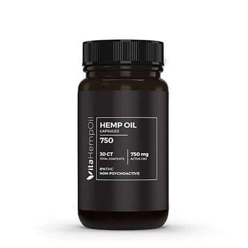 CBD Oil pills Capsules 30ct THC FREE